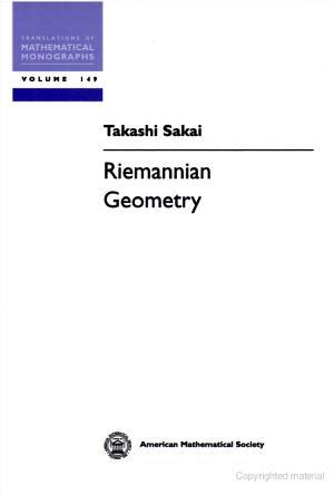 Do carmo riemannian geometry homework