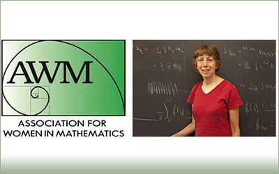 Professor Carolyn Gordon is a member of the inaugural class of the <a href='https://sites.google.com/site/awmmath/awm-fellows'>Association for Women in Mathematics Fellows Program</a>. This program recognizes Professor Gordon and other mathematicians for their &ldquo;unwavering commitment to promoting and supporting women in mathematics&rdquo;, honoring their sustained work in support of the AWM mission.
