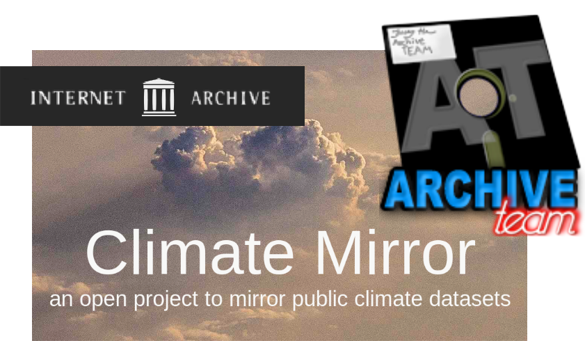 <span class='showcase'>Dan Rockmore</span> and <span class='showcase'>Sarunas Burdulis</span>  have joined volunteer efforts at <a href='https://climatemirror.org'>Climate Mirror</a> and <a href='http://www.archiveteam.org'>ArchiveTeam</a> to backup all U.S. government data, including climate datasets.  <a href='https://datarefuge.dartmouth.edu'><strong>Climate Mirror at Dartmouth</strong></a>