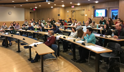 On May 6, the Math department hosted <a href='/~orellana/DMDS2017.html'>Discrete Math Day</a>.  It was co-organized by Sergi Elizalde, Rosa Orellana, Jay Pantone and Peter Winkler.  <a href='/~dmdne/'>Discrete Math Days in the Northeast</a> is a conference series that seeks to bring together a community of combinatorists in the northeast, providing a relaxed atmosphere and a friendly environment conducive to fostering collaboration accross institutions and disciplines.