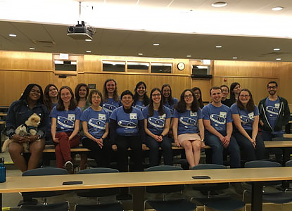 Faculty, graduate students, and undergrads gather while hosting seventy middle and high school students at <a href='/~skmd/'>Sonia Kovalevsky Math Day</a>, a fun-filled day of mathematics with hands-on workshops and talks for middle and high school female students and their teachers.